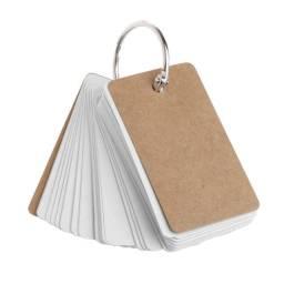 Flash Card Com Argola, Cartão De Estudo