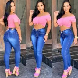 Calça Jeans Escuro Feminina Estonada
