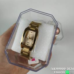 Relógio Feminino a prova d'agua aço inoxidável