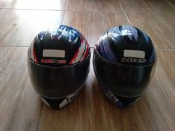 2 capacetes mix usados