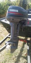 Lancha 6mtrs,borda alta , motor Yamaha 15 Hp, carretinha documentada , *)