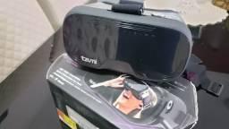 Óculos Vr Realidade Virtual Reality com Fone De Ouvido