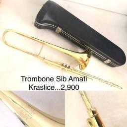 Trombone pisto Sib Amati Kraslice.