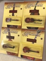 15 Instrumentos Musicais em Miniaturas Coleção da Salvat