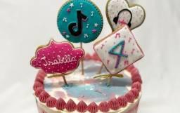 Bolachas decoradas!! P/ aniversário, bem nascidos ou com logo da empresa!