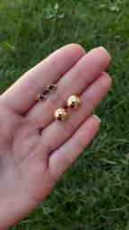 Brincos folheados a ouro e a prata a partir de 29,99 entrega grátis pra Maringá