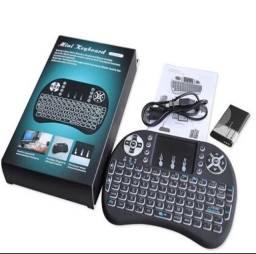 Mini Teclado Controle Bluetooth com Led para TVBOX/TV/PC/XBOX/PS4