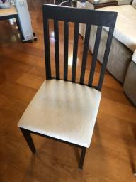 Jogo de 6 Cadeiras assento almofadado
