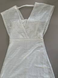 Vestido branco longo zinzane