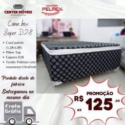 Título do anúncio: Cama cama cama de casal PELMEX nova da loja