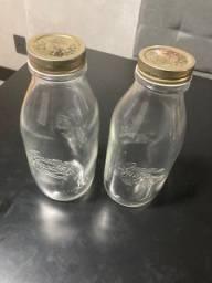 2 potes de vidro