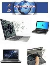 Troca tela quebrada para Notebook e Tablet de todas as marcas e modelos