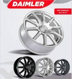 Rodas aro 17 Daimler 4x100 prata (NOVAS)