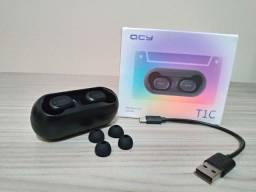 Fone Bluetooth QCY T1C com Estojo de Brinde e Garantia.
