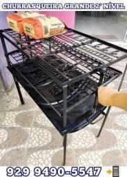 Título do anúncio: veja as fotos! churrasqueira grande 2 nivel brinde 2 Carvão entrega gratis @!!!