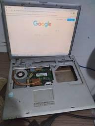 Notebook LG LE50 express funcionando porem quebrado para retirada de peças