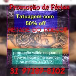 Arte tatuagem promoção
