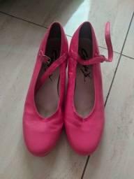 Sapato Sapateado Rosa Seminovo