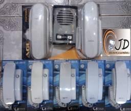 kit interfone instalado em seu local - mas 1 ano de garantia