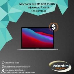 Macbook Pro 2020 8gb 256gb M1 Novo