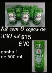 Título do anúncio: Kit com 7 copos