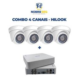 Câmera Hilook THC-T110-P Dome 1MP + DVR Kit 04 canais - Hilook NOVO
