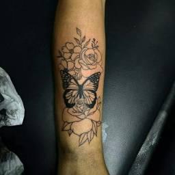 Tatuagem, valor apenas do material
