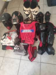 Kit  Motocros (moto, trilha, enduro, motocross) com Botas Alpinestar