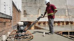 Polimento de piso de concreto - polido, sarrafeado e camurçado