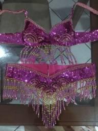 Roupa de dança do ventre pink