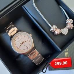Título do anúncio: Relógio Lince com kit