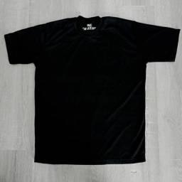 Camiseta Poliviscose Lisa Preta e Branca P, M e G