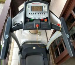 Esteira Ergométrica Houston com Elevação Automática Vel Máx 14 km/h - Prata