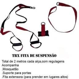 TRX ,fita de suspensão com suporte para portas e fita extensora