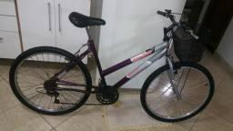 bicicleta aro 26 com cestinha