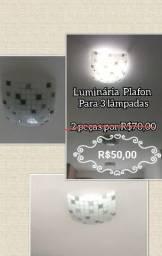 2 luminárias Plafon