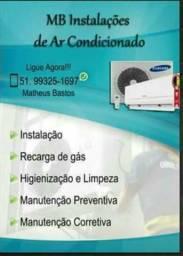 Instalação de Ar condicionado Split- até 12x no Cartão