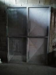 Portão Chapado duas partes