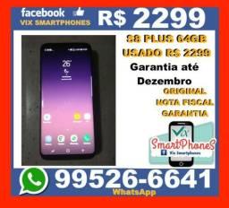 Com Garantia Samsung S8 Plus 4GB 64GB nota_fiscal Usado + .918osaw