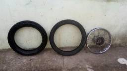 Barato pneus e roda da bros 150cc
