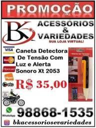 Caneta Detectora De Tensão Com Luze Alerta Sonoro Xt 2053 (Loja BK Variedades).