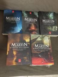 Box 5 livros As Crônicas de Gelo e Fogo