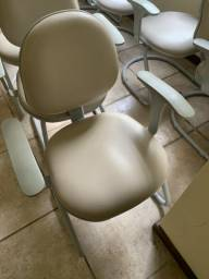 Cadeiras Cinza fixas, 10 unidades