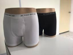 Cueca box, boxer coton cotton e malha