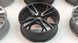 Roda aro 18 Krmai Cruz Preta Fosca com diamantado Volkswagen Gol 4X100 jogo