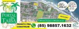 LPT99 Lote,terrenos financiados na Praia da Taiba, prontos pra construir e morar