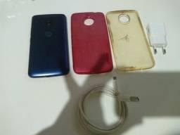 Vendo motoe4 plus azul metálico com biometria