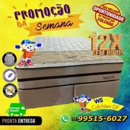 (Ponta Entrega) Cama Box + Colchão Super King Size (Super Luxo)