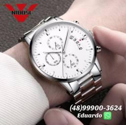 Relógio Nibosi Luxo! A prova d'Agua 3atm Modelo Exclusivo