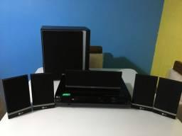 Home Theater LG HT-502SH 5.1 Canais CD/ DVD/ MP3 / VCD/ WMA/ DivX